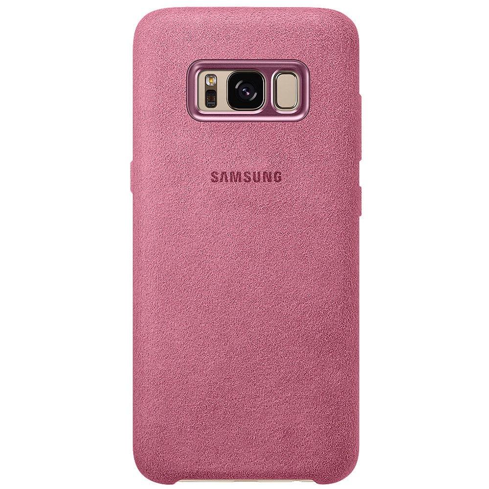 Чехол для смартфона Samsung Alcantara Cover Galaxy S8, розовый (EF-XG950APEGRU) - фото 1