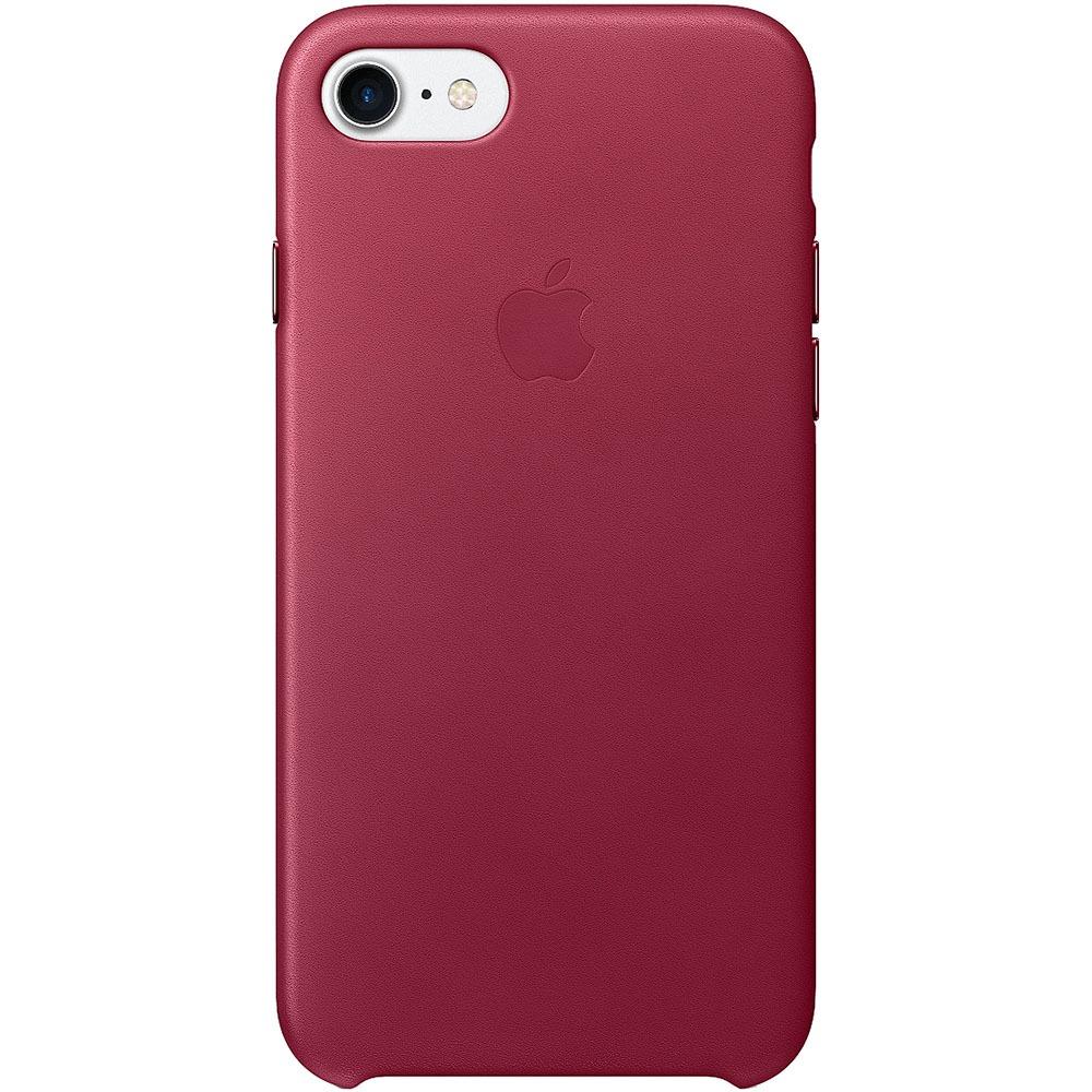 Чехол для смартфона Apple iPhone 7 Leather Case Berry - фото 1