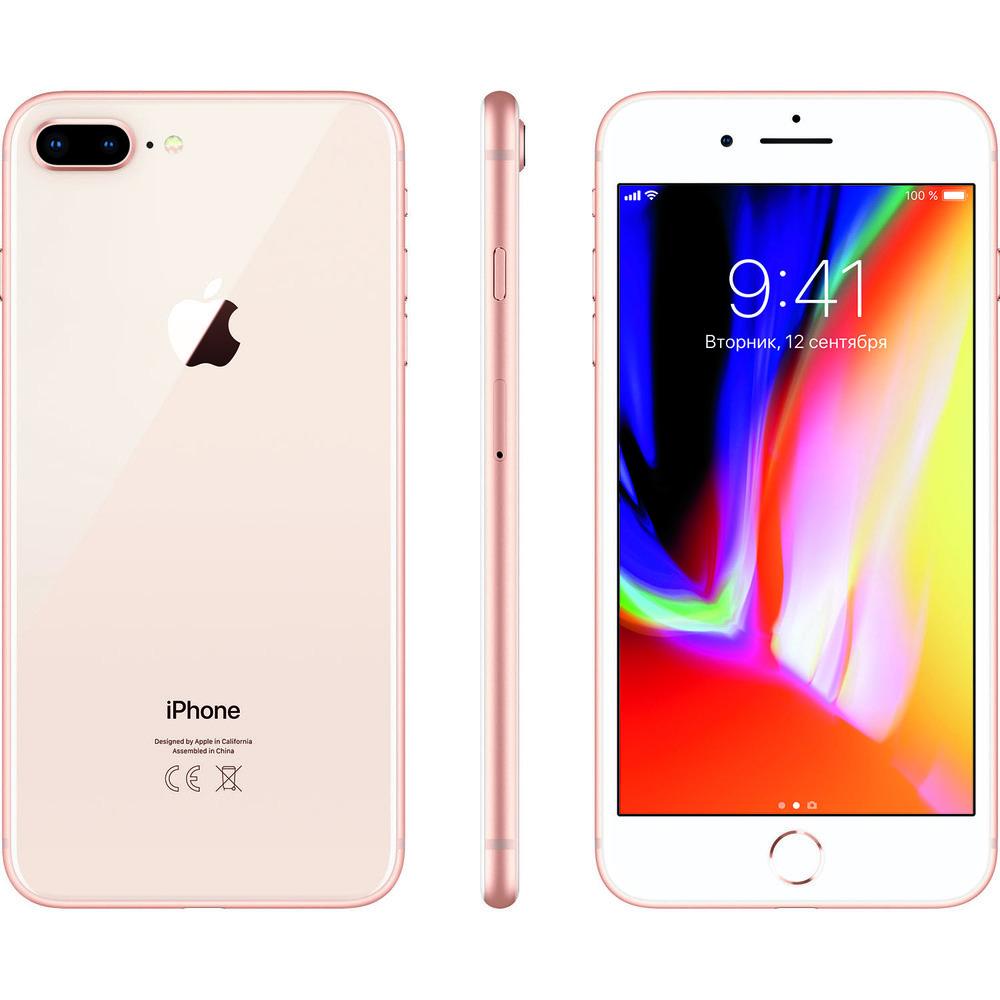 Смартфон Apple iPhone 8 Plus 128GB золотой - фото 6