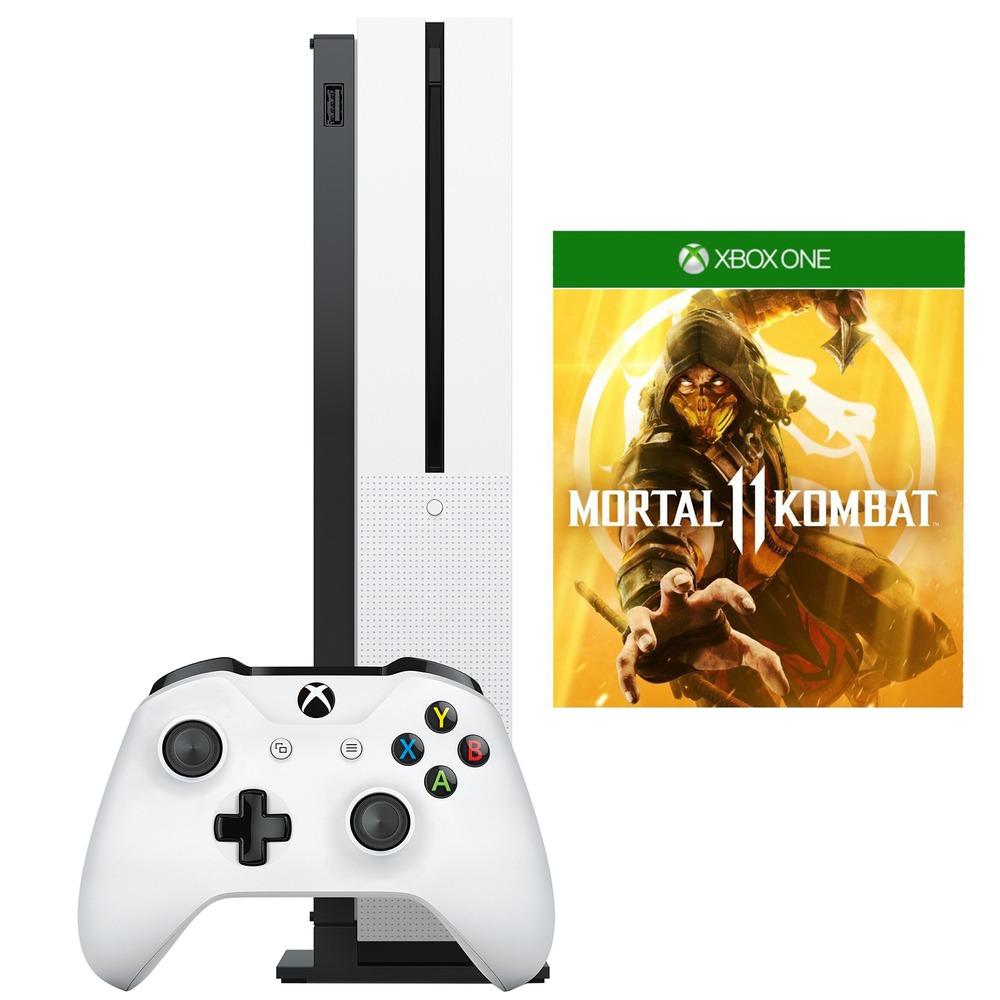 Игровая приставка Microsoft Xbox One S 1 TB (234-00311) Mortal Kombat 11 - фото 1