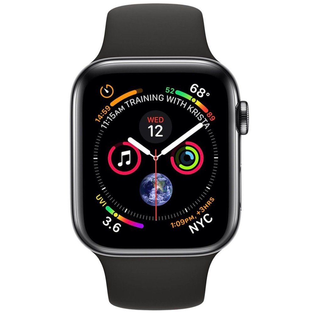 Смарт-часы Apple Watch Series 4  44 мм серый космос, спортивный ремешок - фото 2