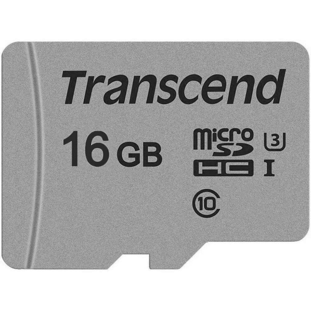 Карта памяти Transcend MicroSDXC 16GB UHS-I U1 (TS16GUSD300S-A) - фото 1