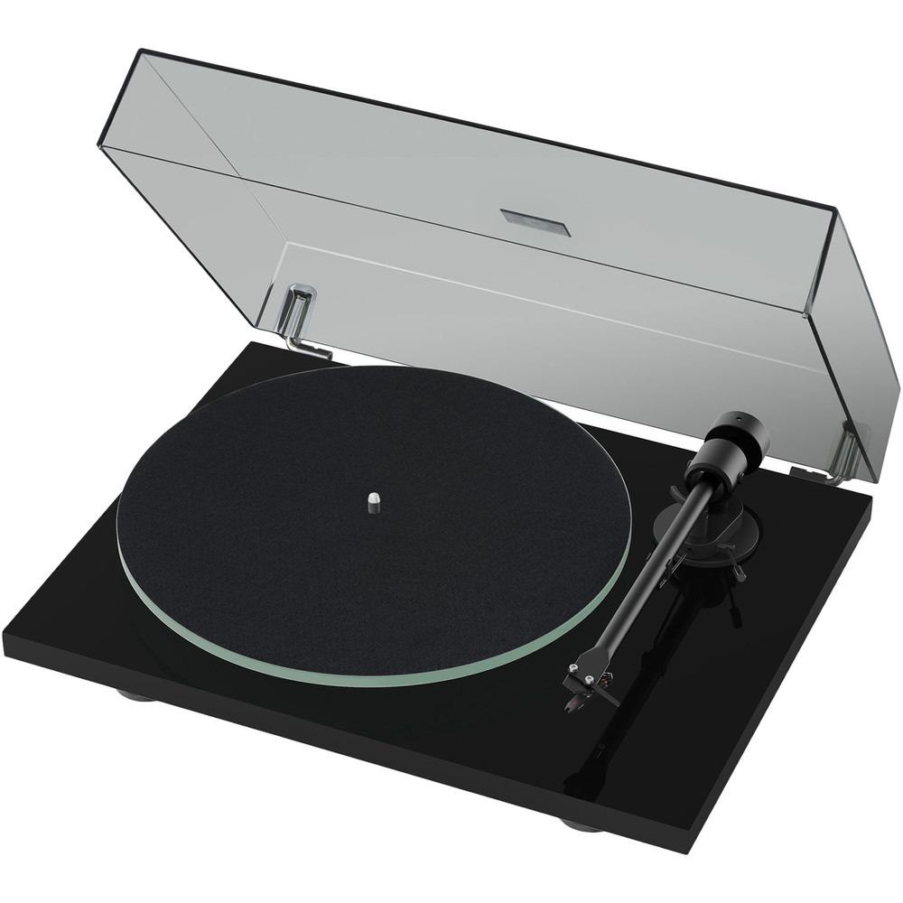 Проигрыватель виниловых пластинок Pro-Ject T1 (OM 5E) Piano Black - фото 1
