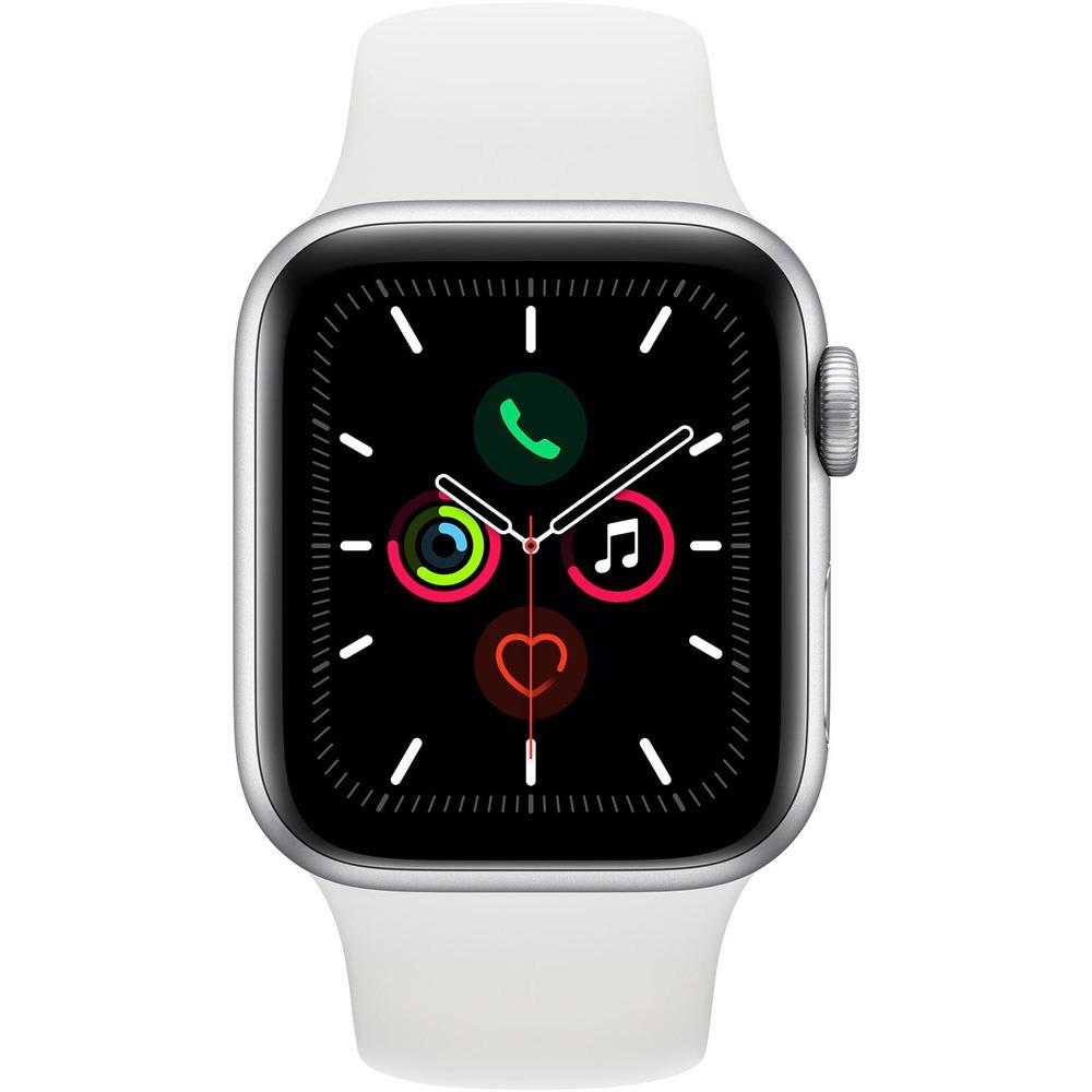Смарт-часы Apple Watch Series 5 40 мм серебристый, спортивный ремешок - фото 2
