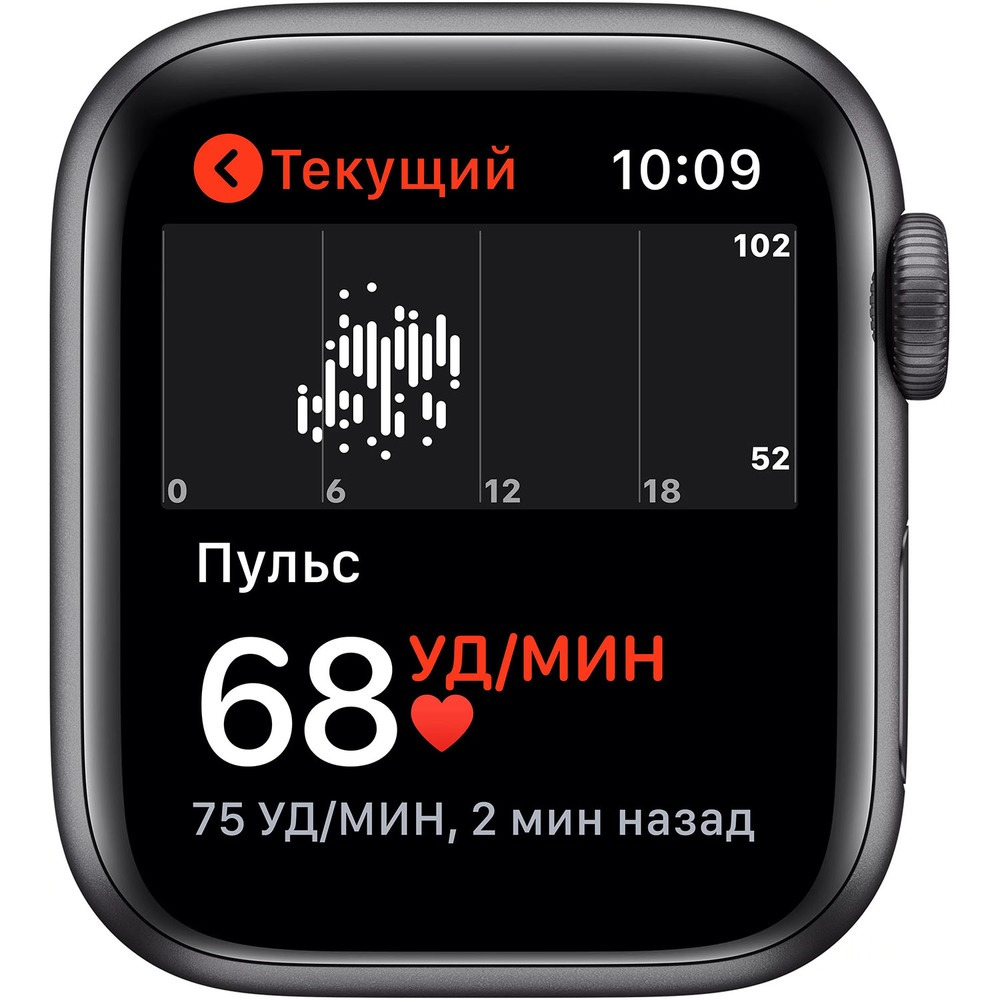 Смарт-часы Apple Watch Series 5 40 мм серый космос, спортивный ремешок - фото 5