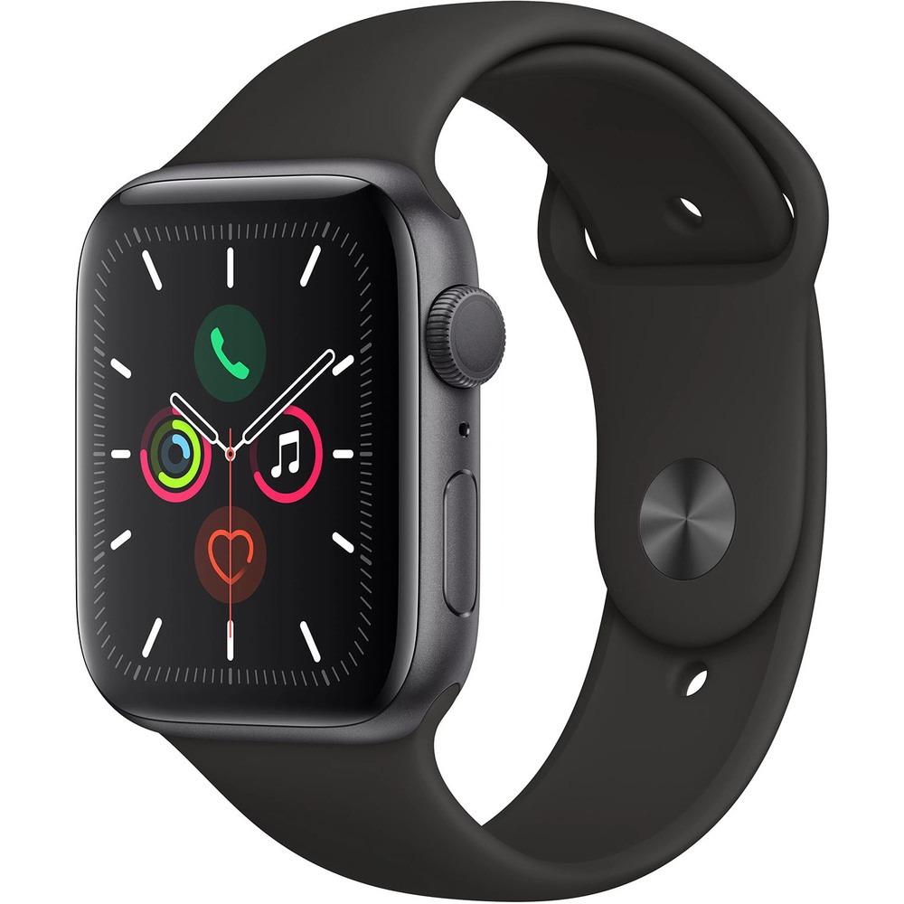 Смарт-часы Apple Watch Series 5 44 мм серый космос, спортивный ремешок - фото 1