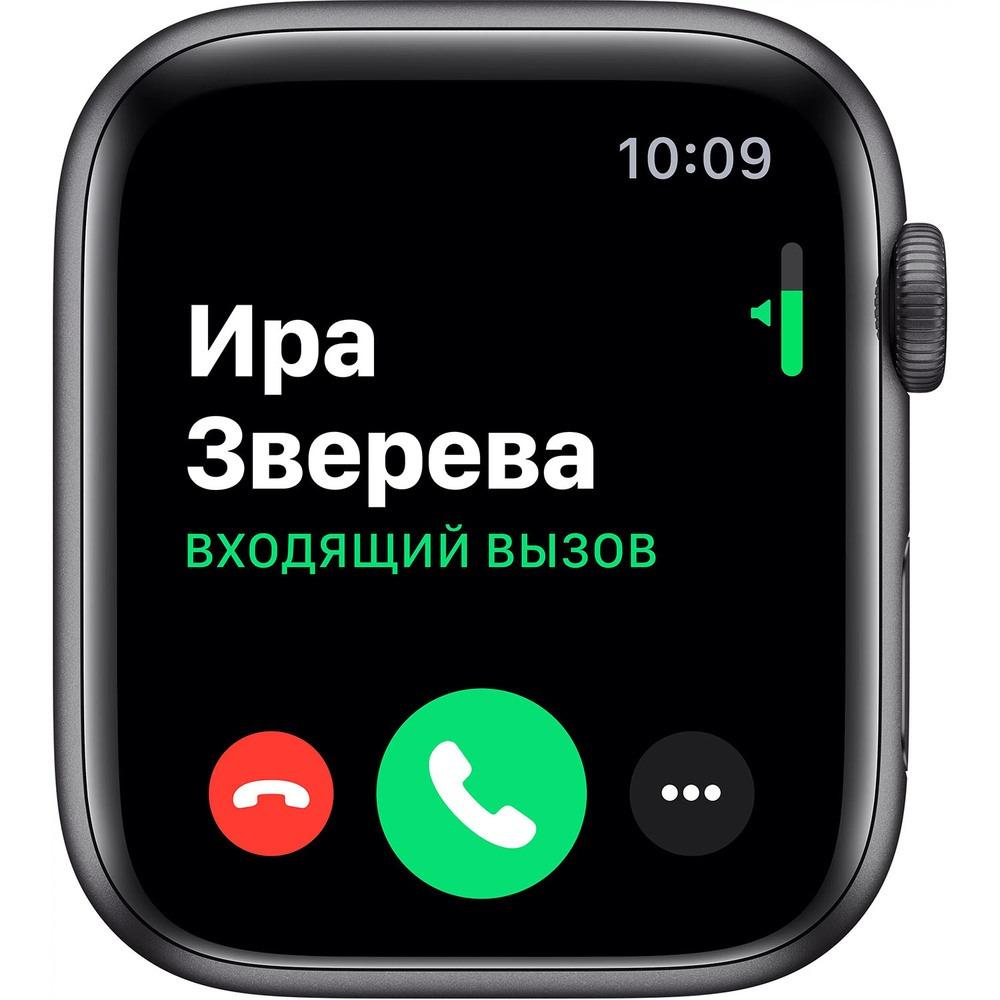 Смарт-часы Apple Watch Series 5 44 мм серый космос, спортивный ремешок - фото 3