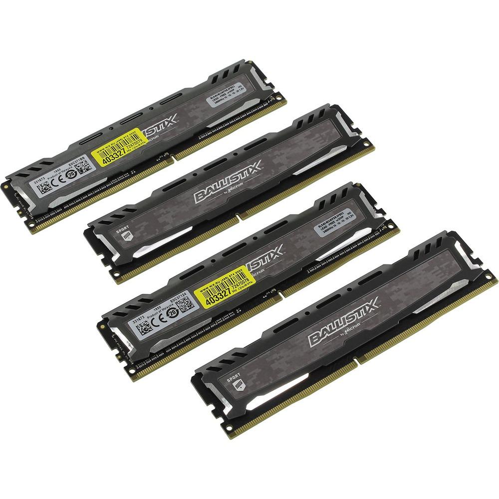 Оперативная память Crucial 16GB PC19200 DDR4 KIT4 BLS4K4G4D240FSB - фото 1