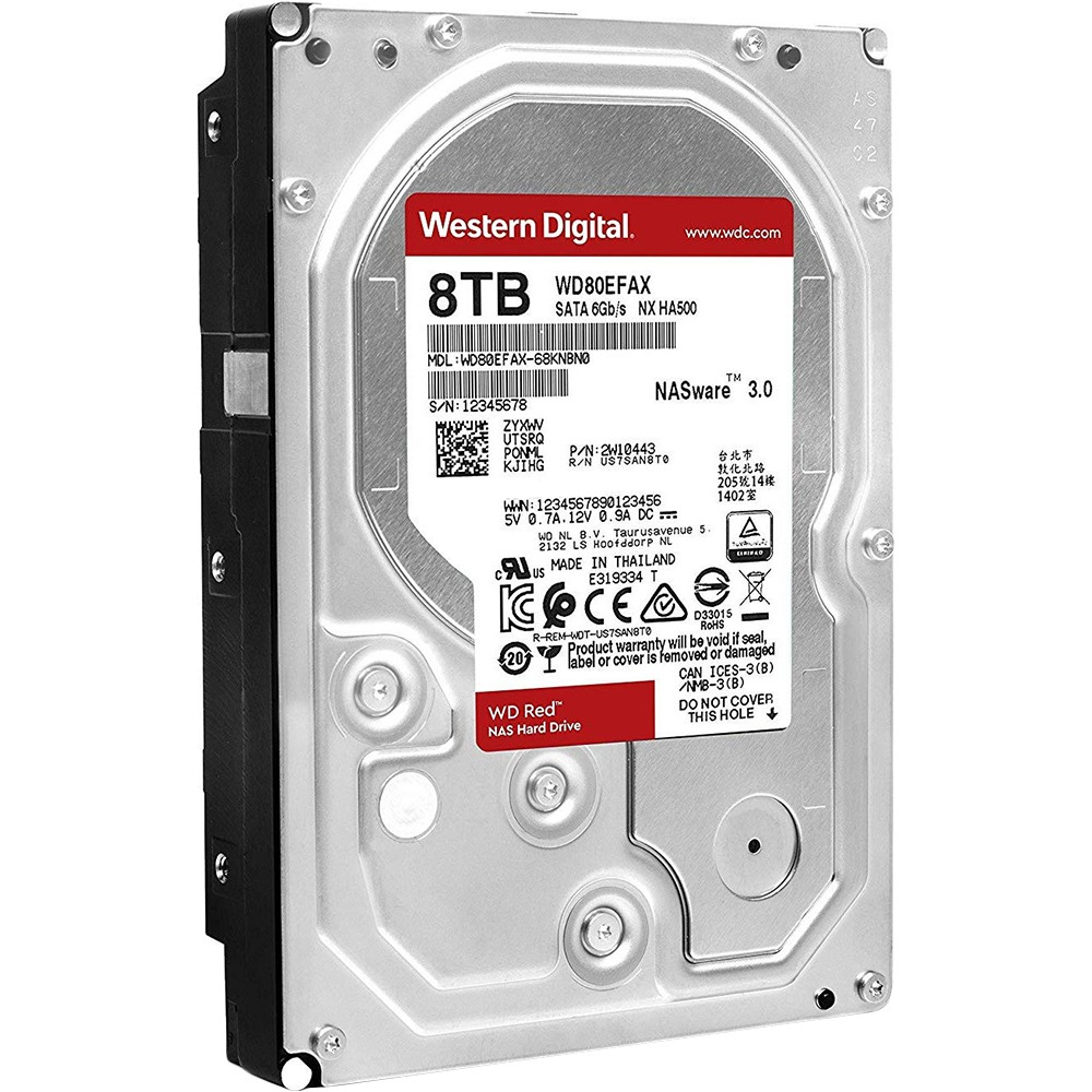 Внутренний HDD накопитель Western Digital 8TB 6GB/S 256MB RED WD80EFAX - фото 2