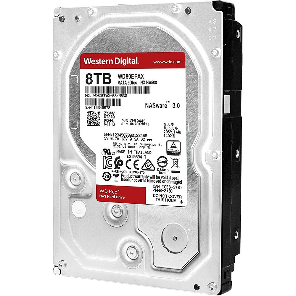 Внутренний HDD накопитель Western Digital 8TB 6GB/S 256MB RED WD80EFAX - фото 3