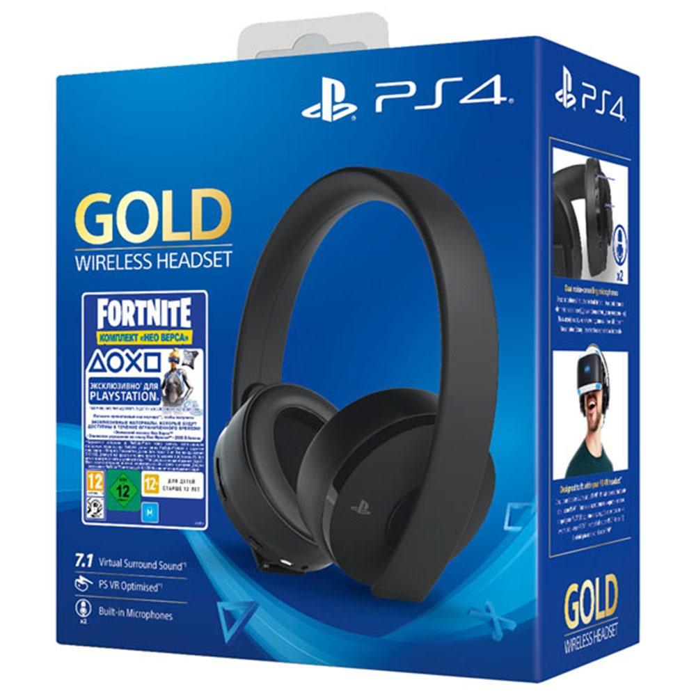 Гарнитура Sony Gold Wireless Headset (CUHYA 0080), Fortnite - фото 4