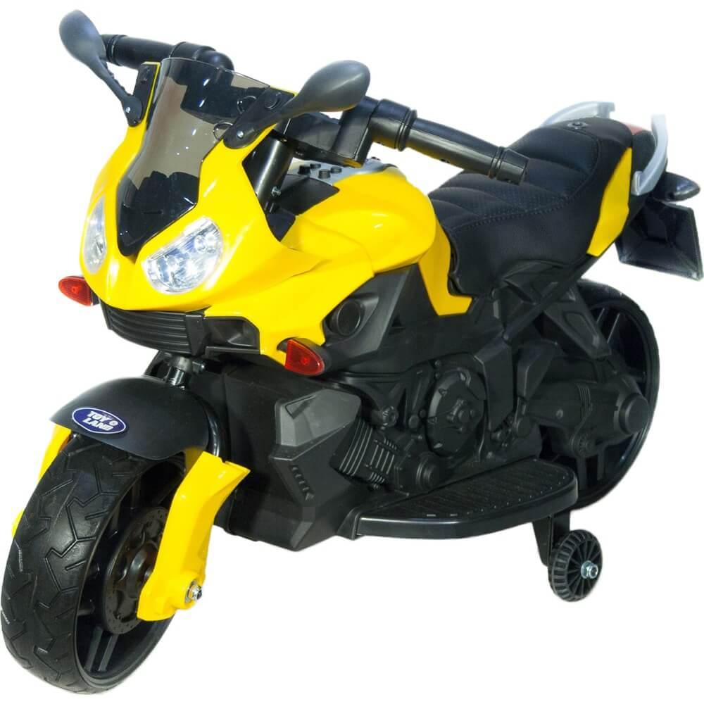 Детский электромотоцикл Toyland Minimoto JC917 желтый - фото 1