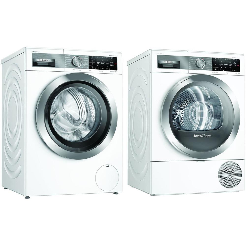Комплект стиральной и сушильной машины Bosch WAX32EH1OE + WTX87EH1OE - фото 1