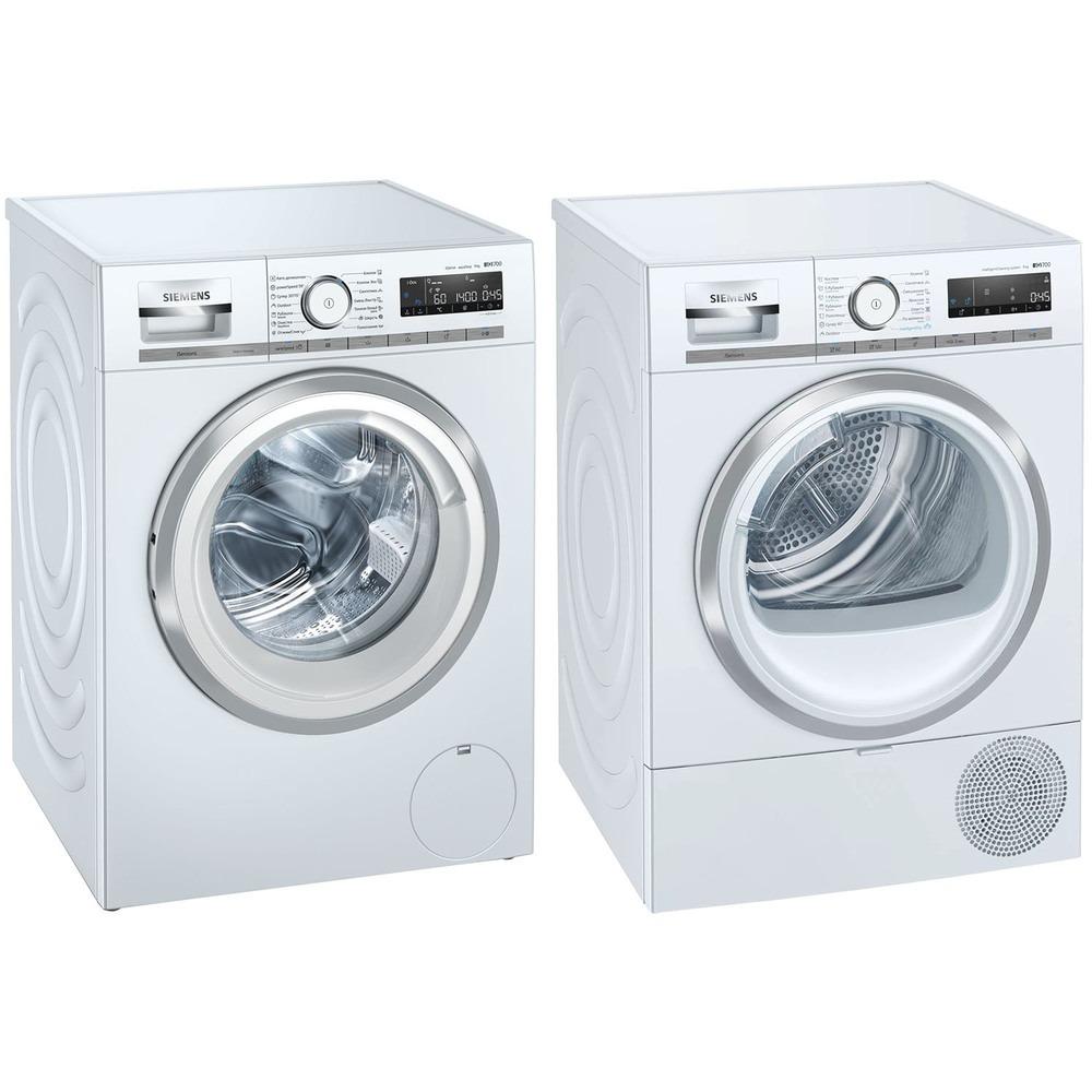 Комплект стиральной и сушильной машины Siemens WM14G0H1OE + WT47XKH1OE - фото 1