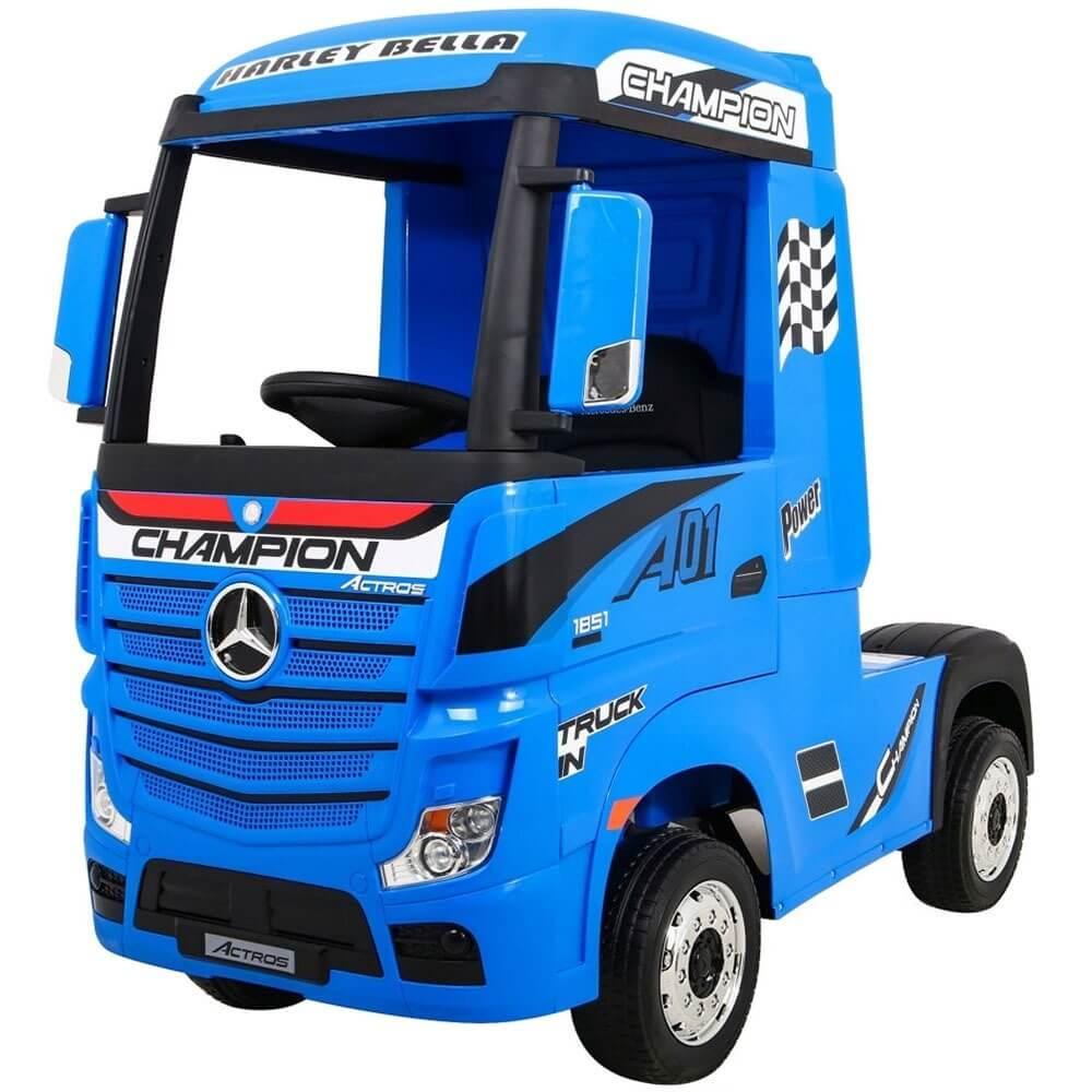 Детский электромобиль Toyland Mercedes-Benz Truck HL358 синий - фото 1