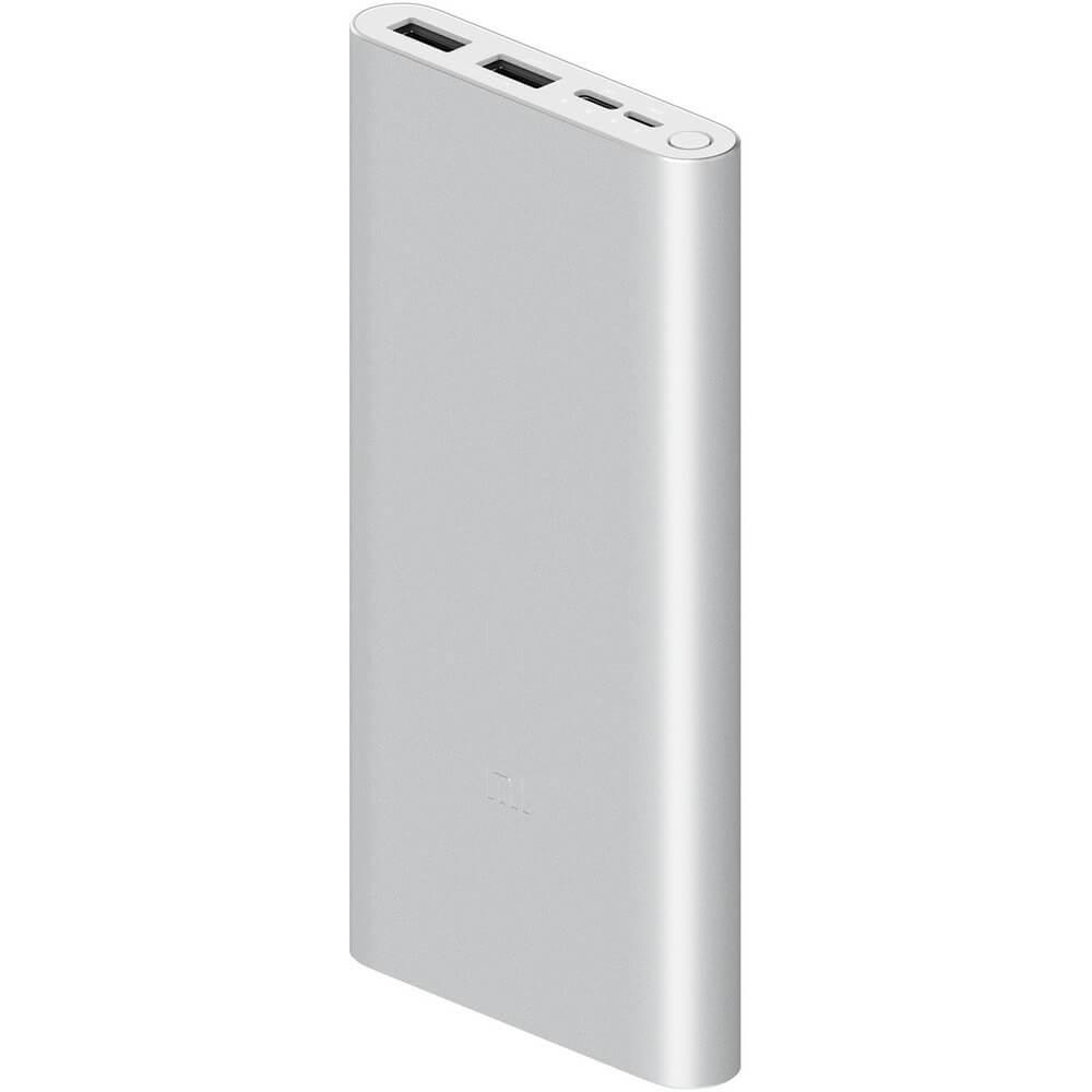 Внешний аккумулятор Xiaomi Mi Power Bank 3 10000 мАч, серебристый - фото 1