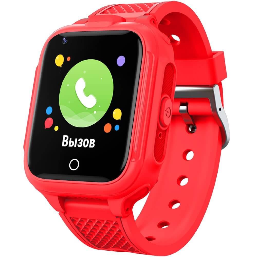 Детские умные часы GEOZON 4G Plus Red - фото 1