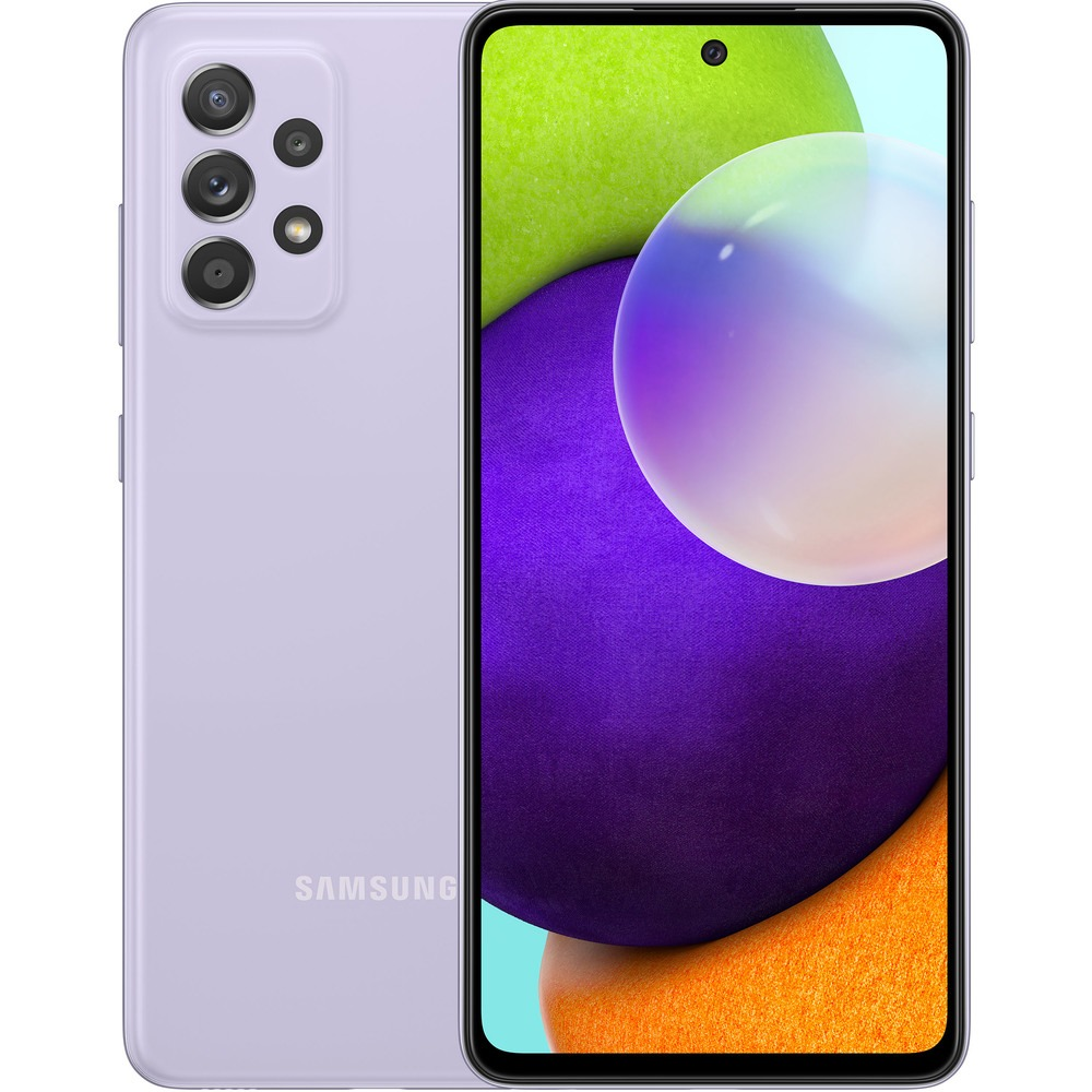 Смартфон Samsung Galaxy A52 256 ГБ фиолетовый - фото 1