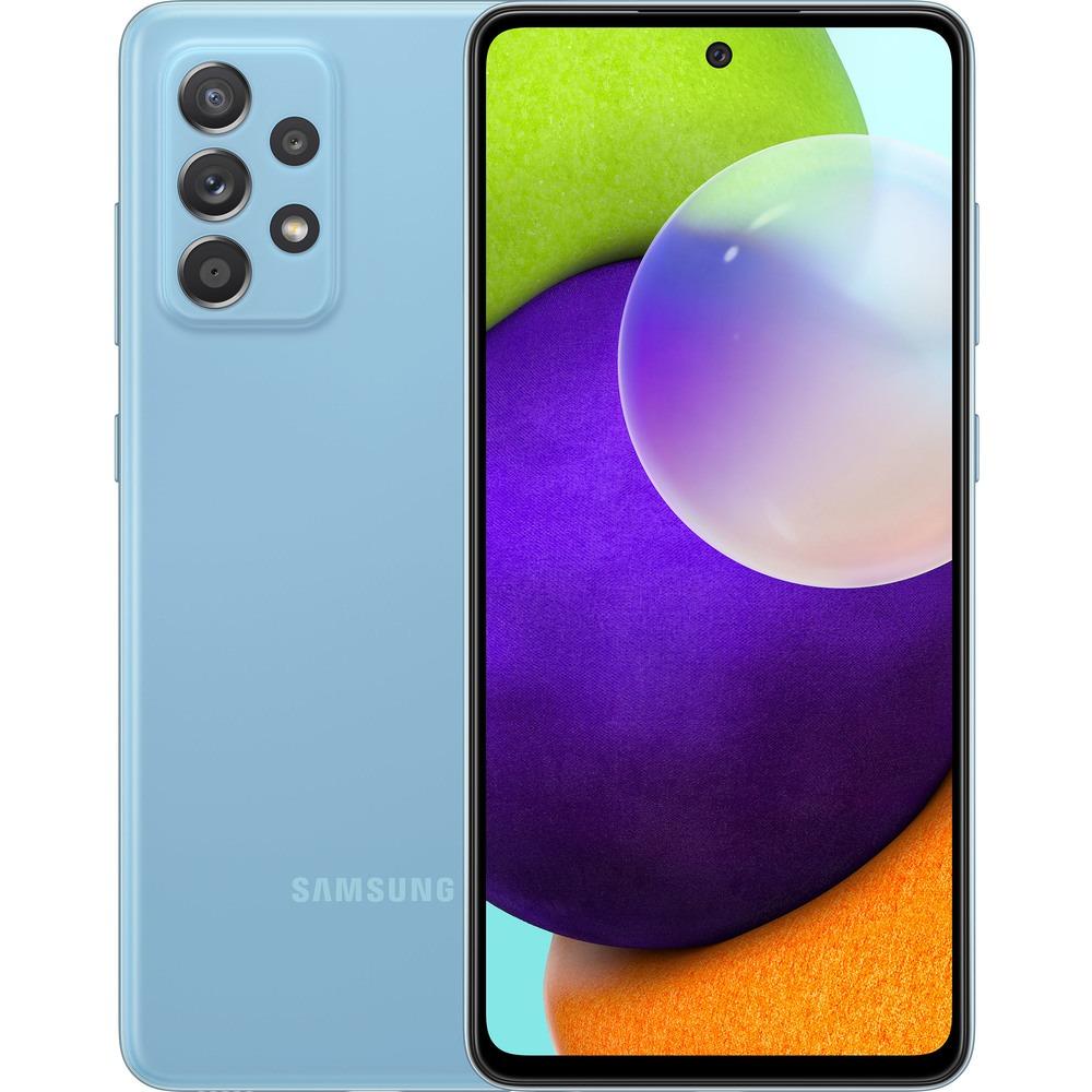 Смартфон Samsung Galaxy A52 128 ГБ голубой - фото 1