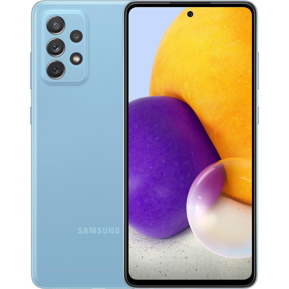 Смартфон Samsung Galaxy A72 128 ГБ голубой - фото 1