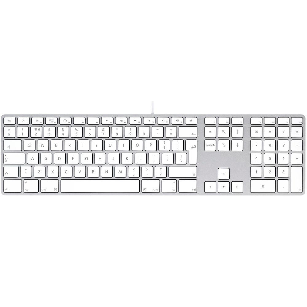 Комплект клавиатуры и мыши Apple MB110 Wired Keyboard White USB MB110RS/B - фото 1
