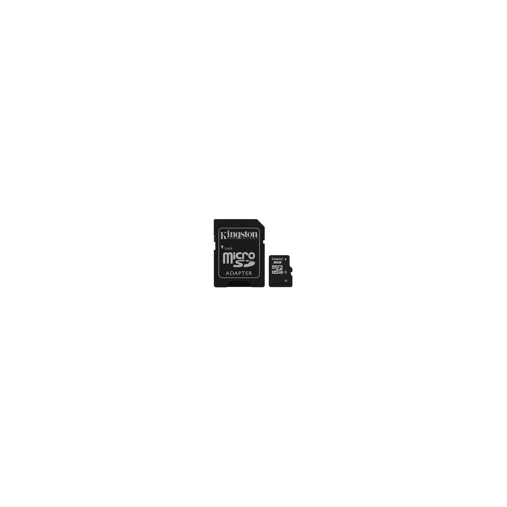 Карта памяти KingStone Micro SDHC 8Gb class 4 + ADP - фото 1