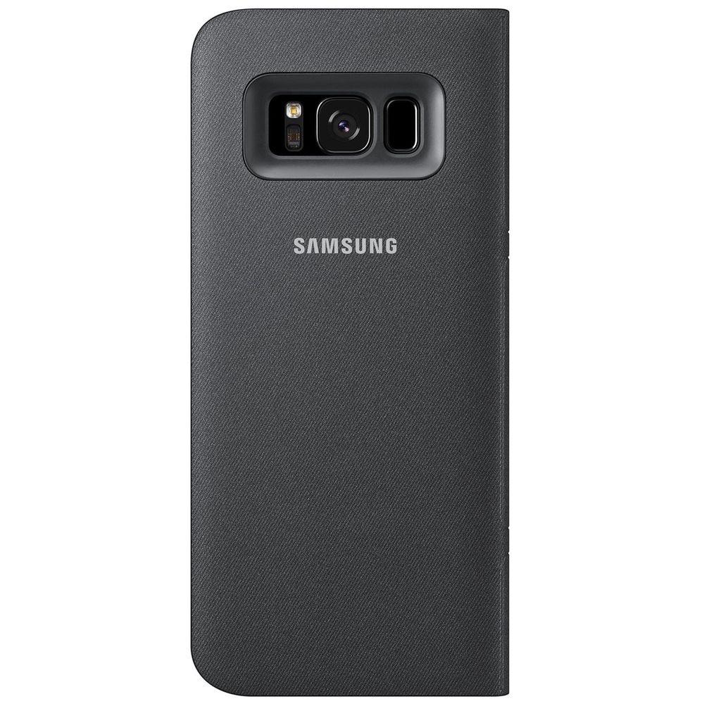Чехол для смартфона Samsung LED View Cover Galaxy S8+, черный (EF-NG955PBEGRU) - фото 2