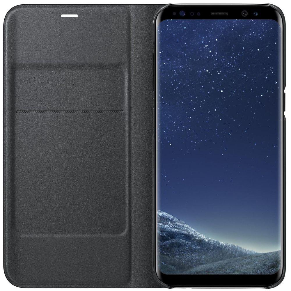 Чехол для смартфона Samsung LED View Cover Galaxy S8+, черный (EF-NG955PBEGRU) - фото 4