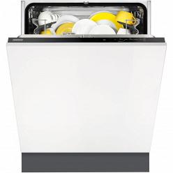 Черная Встраиваемая посудомоечная машина Zanussi ZDT92100FA