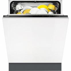 Черная Встраиваемая посудомоечная машина Zanussi ZDT92200FA