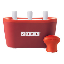 Zoku Triple Quick Pop Maker ZK101-RD мороженица