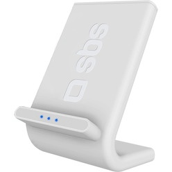 SBS QI Fast Charger 10W desk stand function, белый