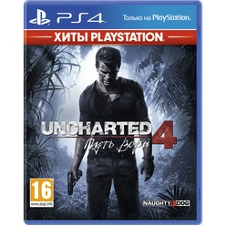 Sony Uncharted 4: Путь вора PS4, русская версия Хиты PlayStation