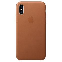 Apple iPhone XS Max Leather Case, золотисто-коричневый