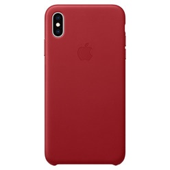 Apple iPhone XS Leather Case, красный
