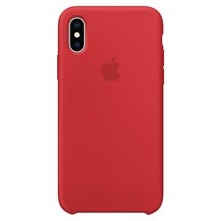 Apple iPhone XS Silicone Case красный