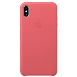 Apple iPhone XS Max Leather Case, розовый