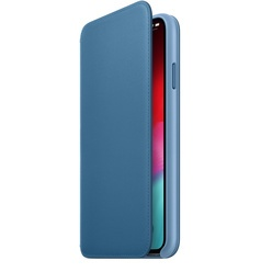 Apple iPhone XS Max Leather Folio, голубой