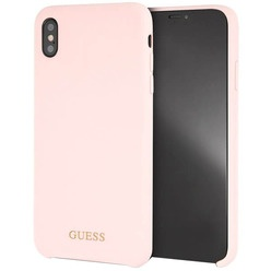 Guess Silicone Collection Gold для Apple iPhone XS Pink