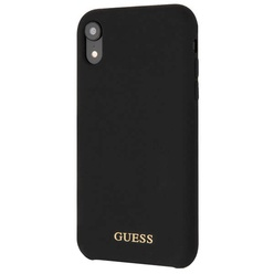 Guess Silicone Collection Gold для Apple iPhone XR Black