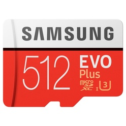 Samsung MicroSDHC 512GB Class 10 EVO Plus (MB-MC512GARU)