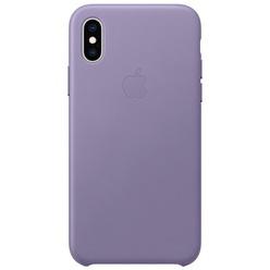 Apple iPhone XS Leather Case лиловый