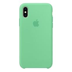 Apple iPhone XS Silicone Case нежная мята