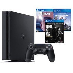 Sony PlayStation 4 1000 Gb + Detroit, Одни из нас, Horizon: Zero Dawn (CUH-2208B)