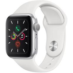Apple Watch Series 5 40 мм серебристый, спортивный ремешок