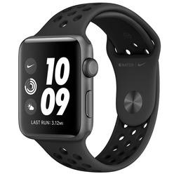 Apple Watch Nike Series 3 38 мм серый космос, спортивный ремешок