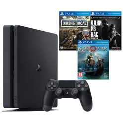 Sony PlayStation 4 1000 Gb + Жизнь После, God Of War, Одни из нас (CUH-2208B)