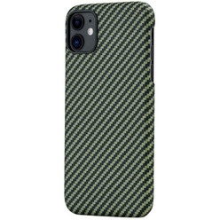 Pitaka MagCase KI1105R для Apple iPhone 11, зелено-черный