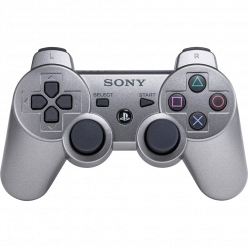 Sony PS3 Dualshock Wireless Gray Metallic (CECHZC2R: SCEE)