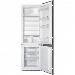 Белый Встраиваемый холодильник Smeg C7280NEP